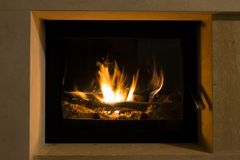 Fire in the Fireplace. Warm house. Fire in Fireplace. Warm house. flames contenplation stock image