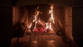 Fire fireplace wood dark background. Fire fireplace wood night dark background Royalty Free Stock Photography