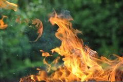 Fire and flame. From a burning fire Royalty Free Stock Images