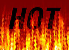 Fire flame. An image showing the word hot against a fire flame effect background Royalty Free Stock Images