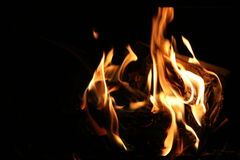 Fire flame. On the hearth Stock Photo