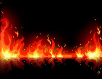 Fire flame. Vector of fire flame on black background Royalty Free Stock Image