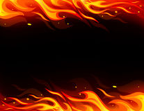 Fire flame. Vector frame with fire flame Royalty Free Stock Photos