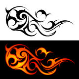 Fire flame. Decorative fire flames isolated on white or black Royalty Free Stock Image