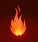 Fire flame. Burn flame fire on dark background Stock Image