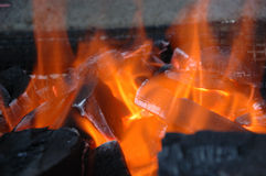 Fire flame. Close up of a fire flame Royalty Free Stock Images