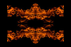 Fire flame abstract, isolated Royalty Free Stock Photo