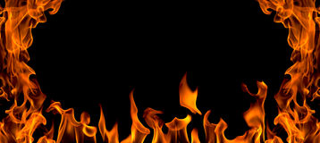 Fire flame abstract, isolated Royalty Free Stock Photography