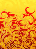 Fire flame abstraction. Abstract background with decorative swirls as design elements Royalty Free Stock Photography