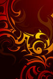 Fire flame backdrop. Decorative backdrop with fire flames and smoke swirls Stock Photos