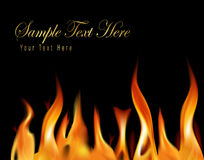 Fire flame background. Vector illustration Royalty Free Stock Photography