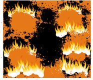 Fire flame background. A pattern of fire flame illustration suitable for backround Stock Photo
