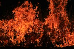 Fire and Flame Background - Beautiful Sizzling Heat Stock Image