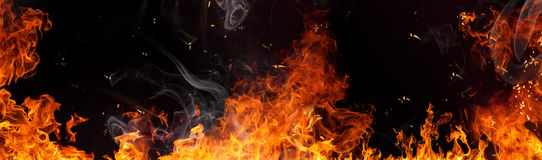 Fire flame background Royalty Free Stock Photos