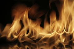 Fire. Flame background image with a black background Royalty Free Stock Photography