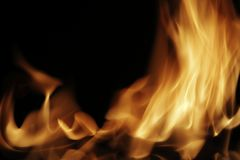 Fire. Flame background image with a black background Royalty Free Stock Photos