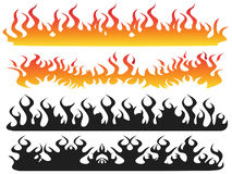 Fire flame background. Isolated Fire flame from white background Royalty Free Stock Photography