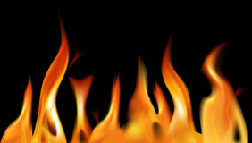 Fire flame background. Vector. Stock Photo