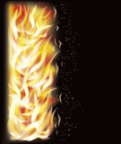 Fire flame background, vector Stock Images