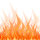 Fire flame background. Vector illustration of burning fire isolated. On white background Royalty Free Stock Image