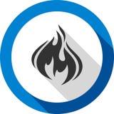 Fire bonfire flame bagel shape. Fire flame, bagel color shape, for you design Stock Photos