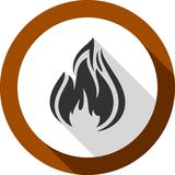 Fire bonfire flame bagel shape. Fire flame, bagel color shape, for you design Stock Images