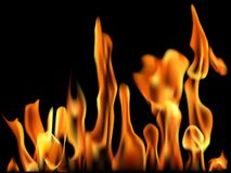 Fire Flame Banner. Stock Photos