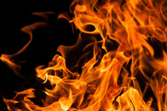 Fire. An flame on black background Royalty Free Stock Photos