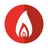 Fire flame burning hot design red circle. Vector illustration eps 10 Stock Photos