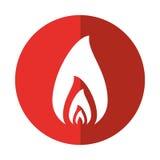 Fire flame burning hot design red circle Stock Photos