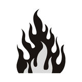 Fire flame burning. Icon silhouette. vector illustration Royalty Free Stock Image
