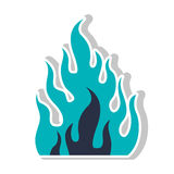 Fire flame burning. Icon silhouette. vector illustration Royalty Free Stock Photo