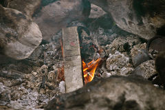 Fire Flame burning Outdoor natural moody background tourism Stock Photo