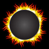 Fire flame in circular frame Royalty Free Stock Image