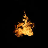 Fire flame collection isolated on black background. Royalty Free Stock Photos
