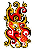 Fire-flame concept. Vector illustration of fire-flame created in tribal art style Royalty Free Stock Photography