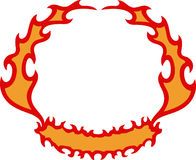 FIRE FLAME CREST Stock Photos