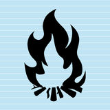 Fire flame  design. Illustration Royalty Free Stock Image