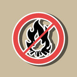 Fire flame  design. Illustration Stock Photography