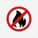 Fire flame  design. Illustration Royalty Free Stock Photo
