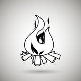 Fire flame  design. Illustration Stock Photos