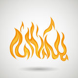 Fire flame  design. Illustration Royalty Free Stock Photography