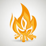 Fire flame  design. Illustration Stock Photos