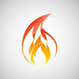 Fire flame  design. Illustration eps10 graphic Stock Photo