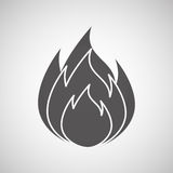 Fire flame  design. Illustration eps10 graphic Royalty Free Stock Images