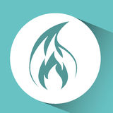 Fire flame  design. Illustration eps10 graphic Royalty Free Stock Image