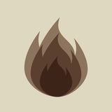 Fire flame  design. Illustration eps10 graphic Royalty Free Stock Photography