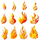 Fire Flame. Easy to edit vector illustration of fire flame collection Royalty Free Stock Photography