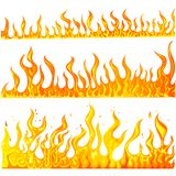 Fire Flame. Easy to edit vector illustration of fire flame collection Stock Image