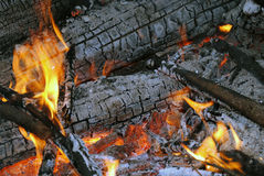 Fire flame ember burn Stock Images